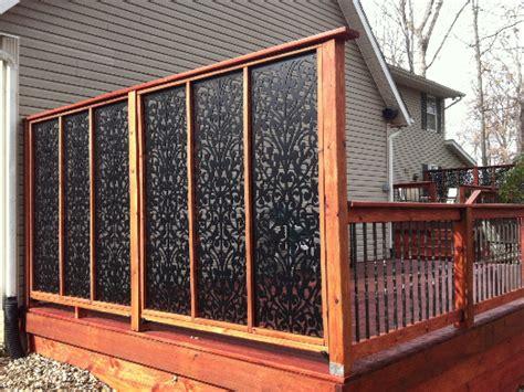 pergola enclosure ideas screen for deck privacy lattice