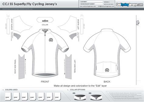 Template Downloads Cycling Jersey Design Template