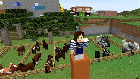 minecraft boat horse minecraft horse challenge the cube ep 28 youtube