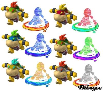 the many colors of bowser jr. and mario picture #75517113