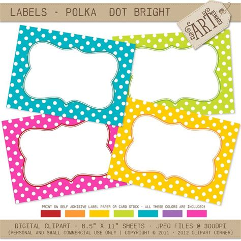 printable name tags pinterest polka dot labels free printable name tags diy and crafts