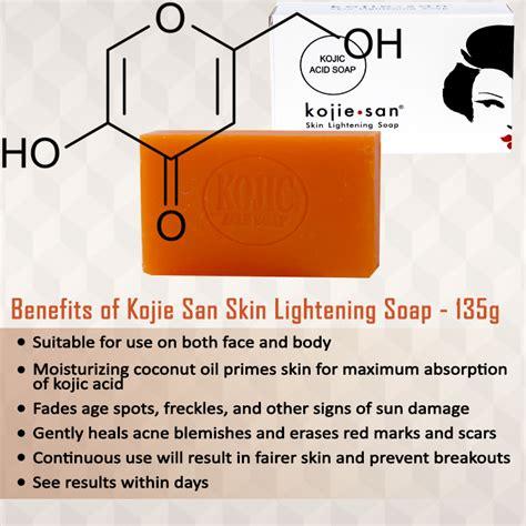 Kojie San Kojic Acid Soap 135 Gr kojie san skin lightening kojic acid soap 135g