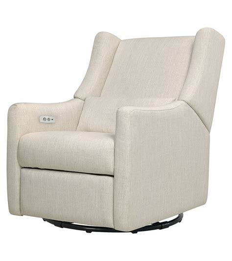 electronic recliners babyletto kiwi electronic recliner swivel glider white