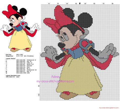snow white pattern free disney minnie mouse snow white free back stitch cross