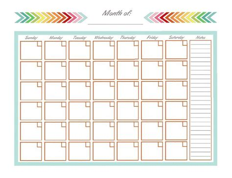 printable blank monthly planner best 25 monthly calendars ideas on pinterest free