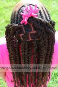 Braided hairstyle back view african american little girls