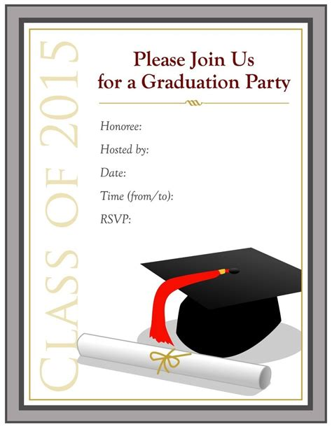 Free Word Templates For Graduation Invitations | free graduation invitation templates for word mybissim com