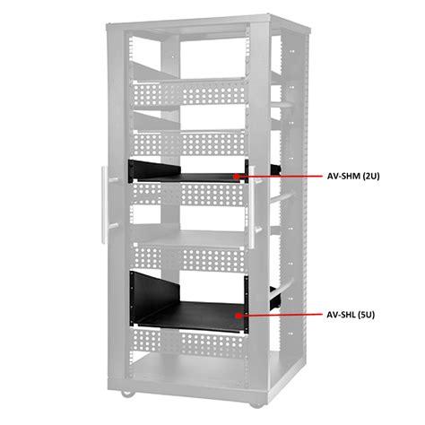 peerless 2u or 5u av component rack shelf black av shm av shl