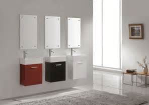 Modern Bathroom Vanities Small Lille Wall Hung Vanity For Small Bathroom Modern