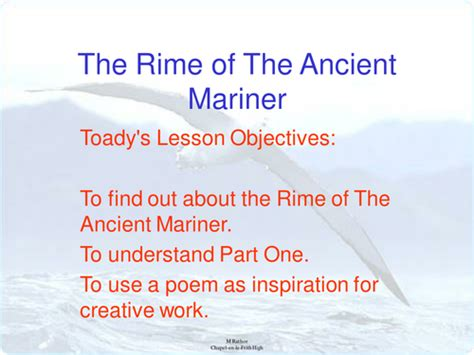 Rime Of The Ancient Mariner Analysis Essay by Missr S Shop Teaching Resources Tes