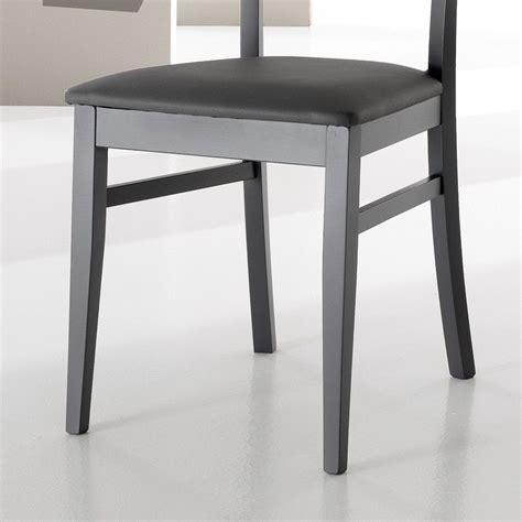 sedie per sala pranzo sedia mireia per sala pranzo in legno ed ecopelle grigio o