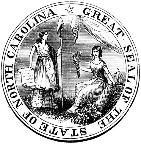 north carolina seal clipart etc