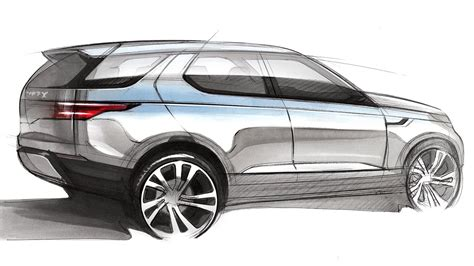 range rover sketch car design sketch drawing land rover discovery vision