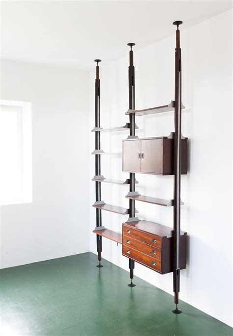 rosewood floor to ceiling wall unit from stildomus 1960s