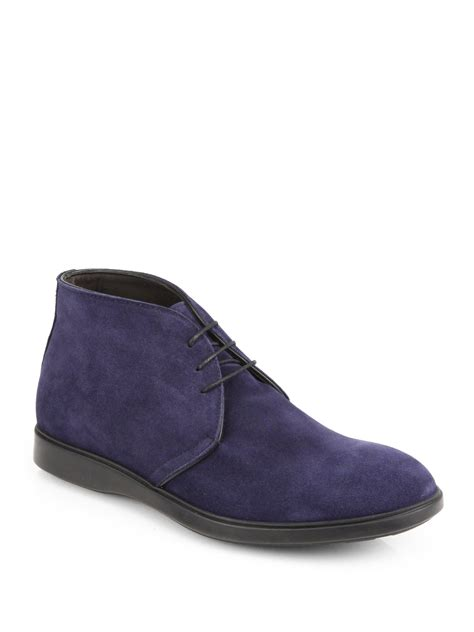 saks mens sneakers saks fifth avenue suede chukka boots in blue for navy