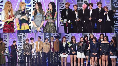 blackpink dan bts winners of the 6th gaon chart music awards soompi
