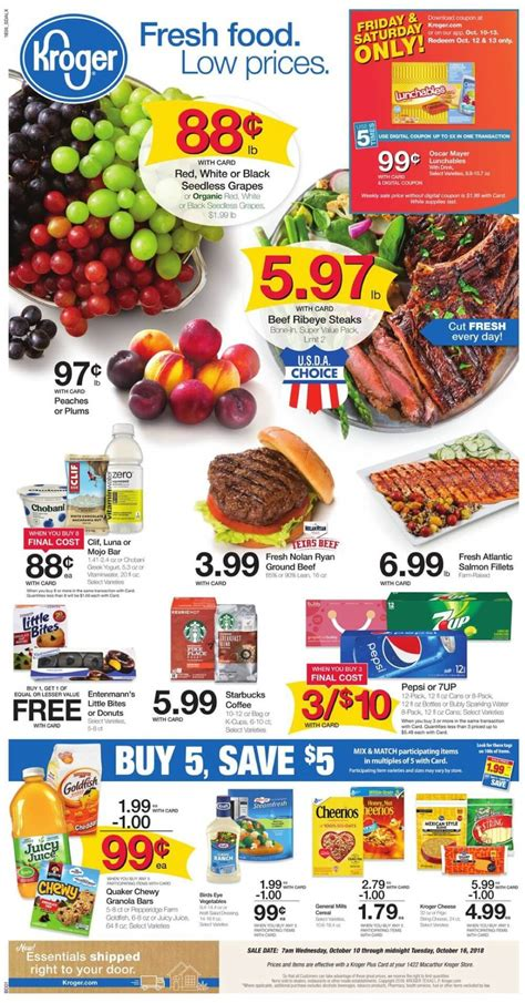 kroger weekly ad circular   promogrocery