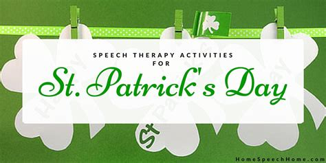 speech therapy activities for st s day