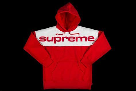 Jaket Hoodie Supreme X Chion Color Blocked supreme blocked hooded sweatshirt f w 2017