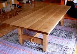 portfolio white oak dining table offerman woodshop