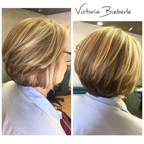 short hairstyle cor women over 50 stacked layered stacked bob hairstyle for women over 50 styles