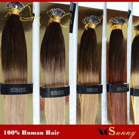 ombre 22inch hair extentions wholesale 18 inch 22 inch ombre dip dye straight nano