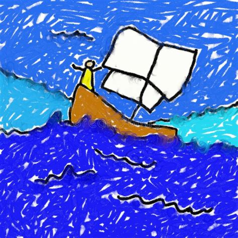 boat child drawing childs boat drawing stock photography image 3112432