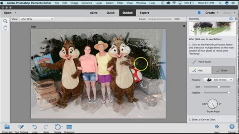 tutorial edit adobe photoshop adobe photoshop elements 15 painterly edit fuse tutorials
