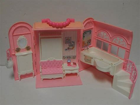 barbie doll house canada barbie doll house mattel 1998 fold out doll house bed bath rooms pink 163 32 14