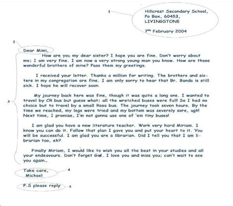 layout of informal letter writing informal letter writing english writing pinterest