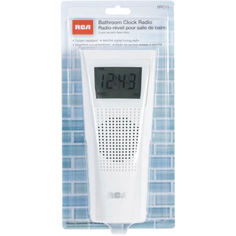clock radio for bathroom rca brc11 splash resistant bathroom clock radio splash