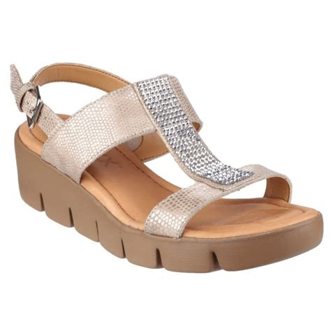 Sendal Wedges 1 the flexx strass em up amour s platino sandals free returns at shoes co uk