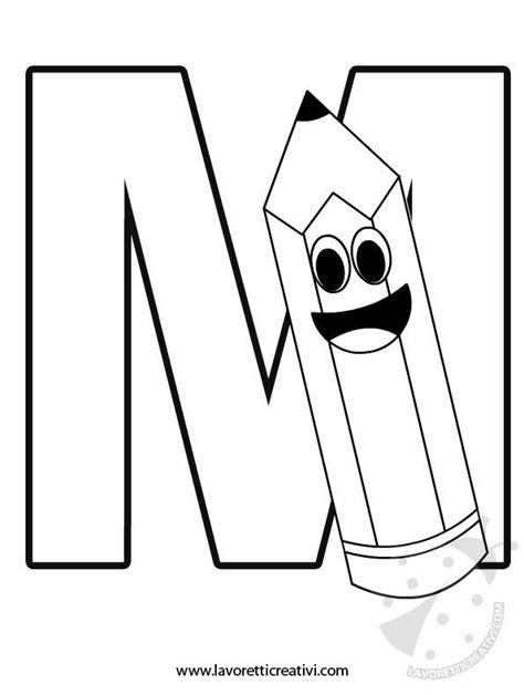 disegno lettere alfabeto alfabeto con disegni lettera m