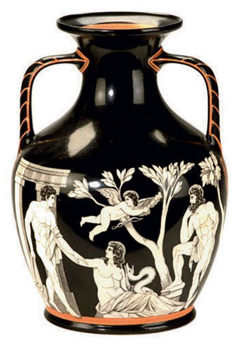 The Portland Vase by A Porcelain Model Of The Portland Vase Printed Black