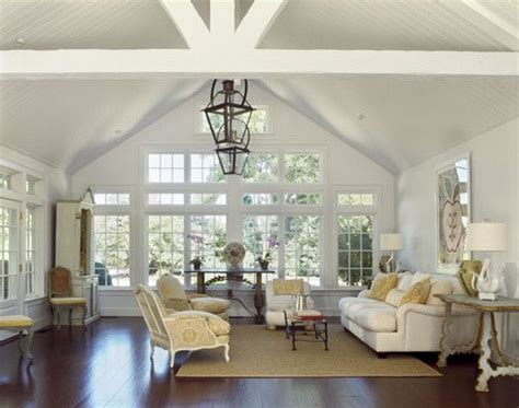 Ceiling Ls For Living Room Country Houses Traditional Living Room Vaulted Ceiling Painted White Floor Window