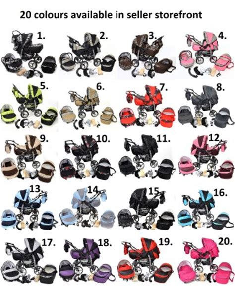 Leopard Set 3in1 3 in 1 travel system with baby pram car seat pushchair