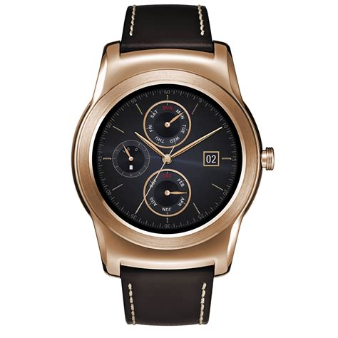 lg urbane smartwatch gold with brown lgw150