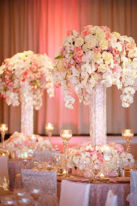 pink blush  yellow wedding centerpiece pink wedding
