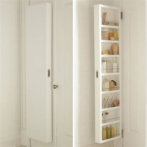 the door shelves for bathroom concealable door storage cabinets so that s cool