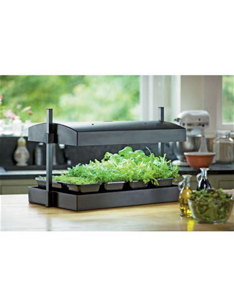 Indoor Herb Garden Kit With Light by Indoor Herb Garden Kit Greens Light Garden Gardener