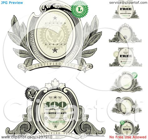 money dollars and design elements vector clipart of money design elements royalty free vector