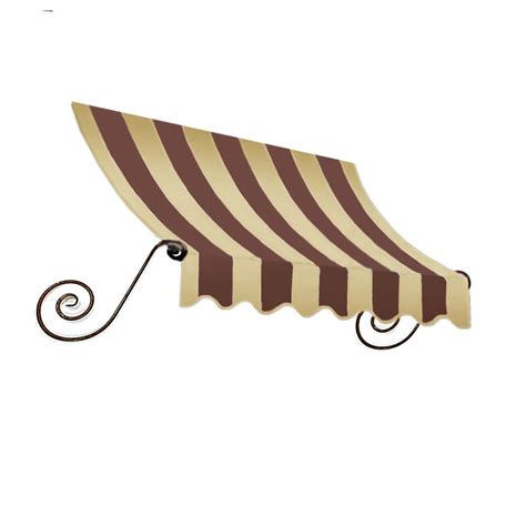 18 foot awning awntech 18 ft charleston window entry awning 18 in h x 36 in d in brown tan