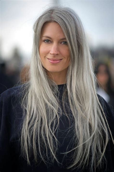 love the gray i love this natural grey white hair age beautifully