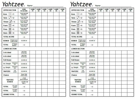 printable yahtzee paper yahtzee sheets free learning printable