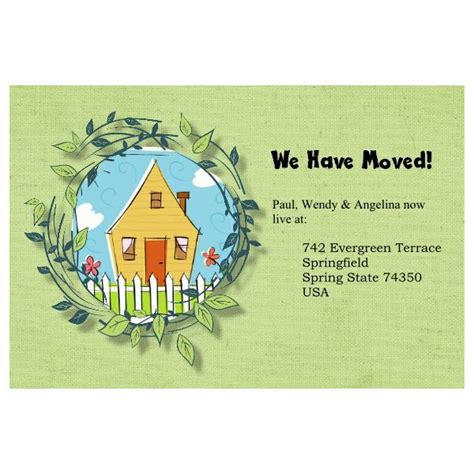 moving home cards template 5 free change of address postcards templates for