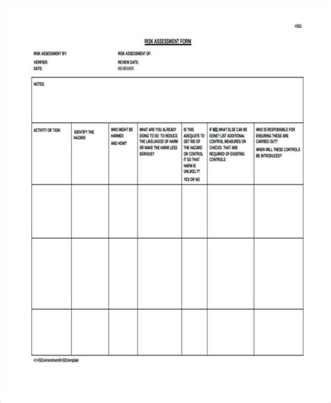 Generic Risk Assessment Template by 30 Risk Assessment Sles Free Premium Templates