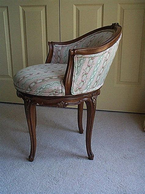 style vanity chair with beacon hill fabric from