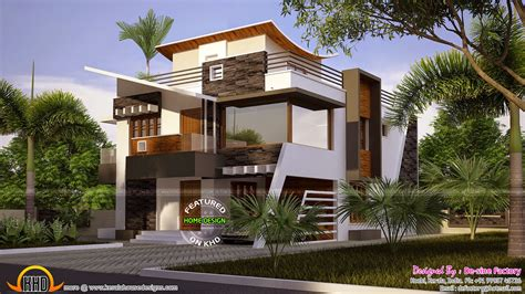 contemporary home design plans floor plan of ultra modern house kerala home design and