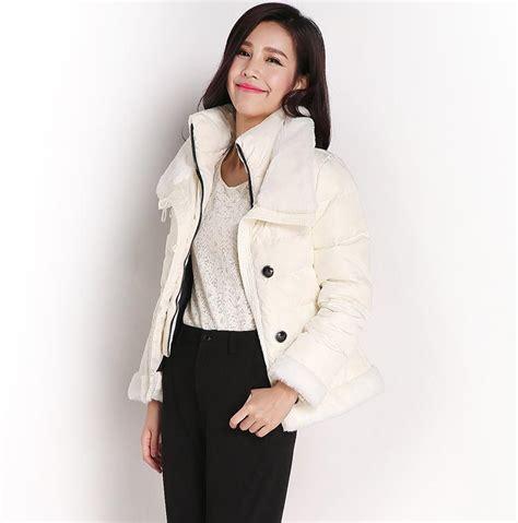 jaket musim dingin korea white padded jacket