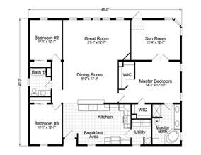 Floorplan Or Floor Plan Wellington 40483a Manufactured Home Floor Plan Or Modular